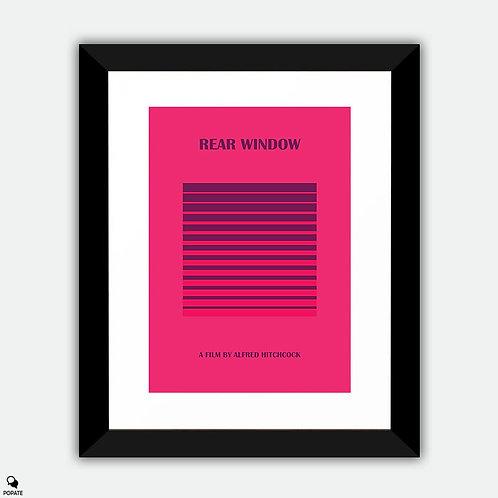 Rear Window Minimalist Framed Print