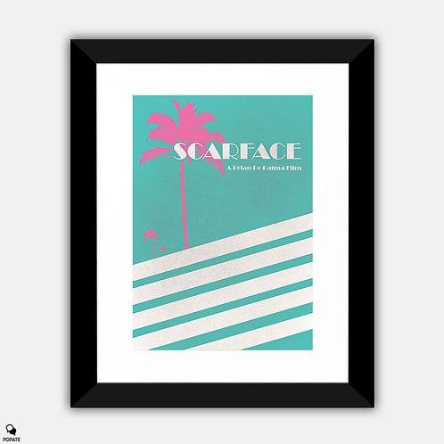 Scarface Vintage Framed Print