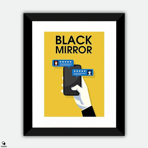 Black Mirror Minimalist Framed Print - Nosedive