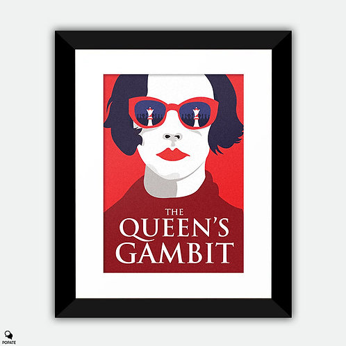 The Queen's Gambit Minimalist Framed Print - First Move