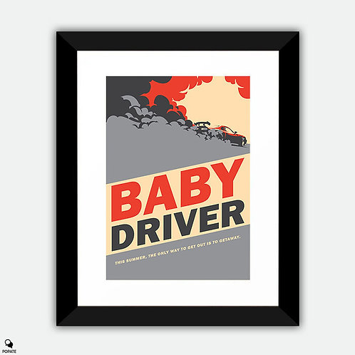 Baby Driver Vintage Style Framed Print