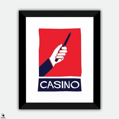 Casino Alternative Saul Bass Style Framed Print