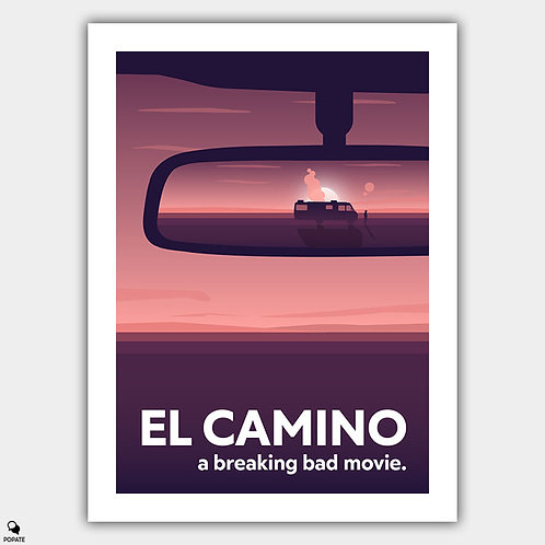 El Camino A Breaking Bad Movie Alternative Poster - Rear View