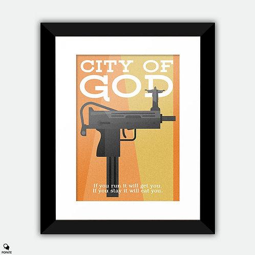 City of God Minimalist Framed Print
