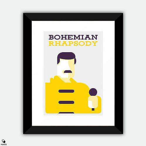 Bohemian Rhapsody Minimalist Framed Print - Freddie Mercury