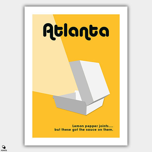 Atlanta Alternative Poster - Lemon Pepper Wet