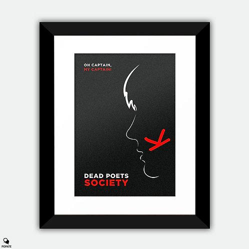 Dead Poets Society Minimalist Framed Print - Oh Captain!