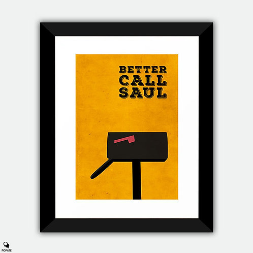 Better Call Saul Minimalist Framed Print