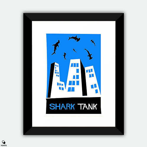 Shark Tank Saul Bass Style Alternative Framed Print