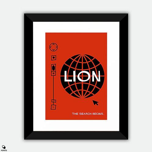 Lion Vintage Saul Bass Style Alternative Framed Print