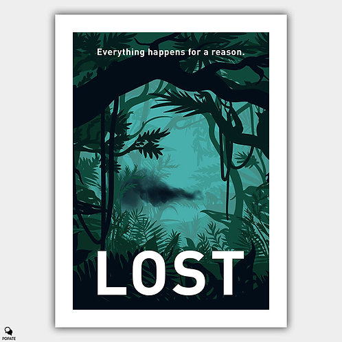 Lost Minimalist Poster - Black Smoke