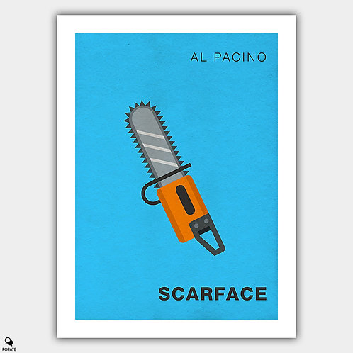 Scarface Minimalist Poster - Chainsaw