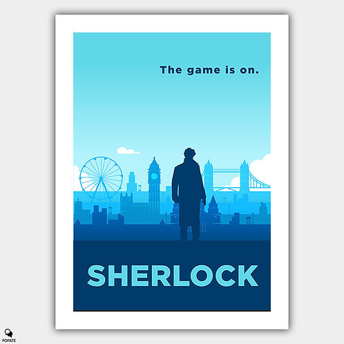 Sherlock Alternative Poster - The Game is On