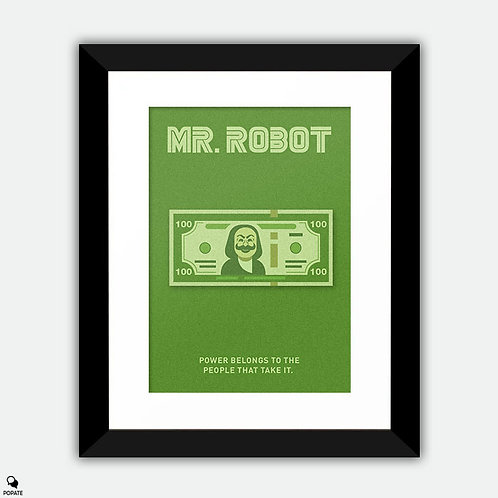 Mr. Robot Alternative Framed Print - Power