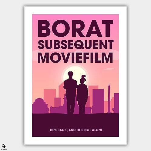 Borat Subsequent Moviefilm Minimalist Poster