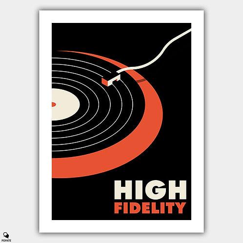High Fidelity Minimalist Poster