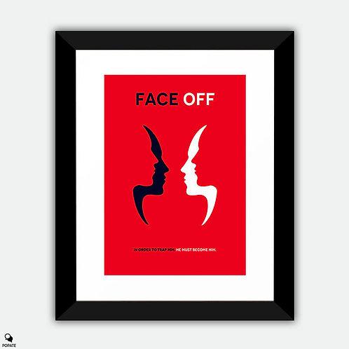 Face Off Minimalist Framed Print