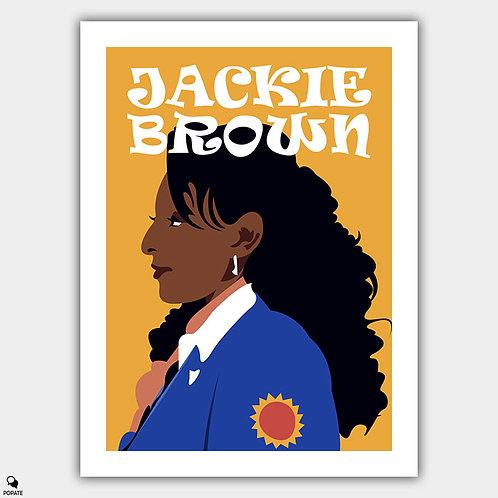 Jackie Brown Alternative Poster - Jackie