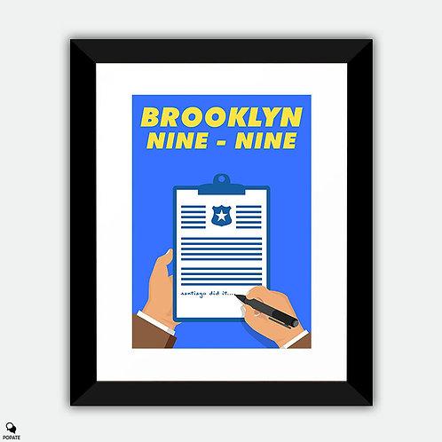 Brooklyn Nine Nine Minimalist Framed Print