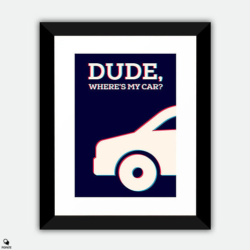 Dude Where's My Car Minimalist Framed Print