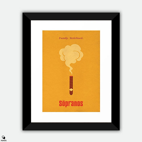 The Sopranos Minimalist Framed Print - Cigar