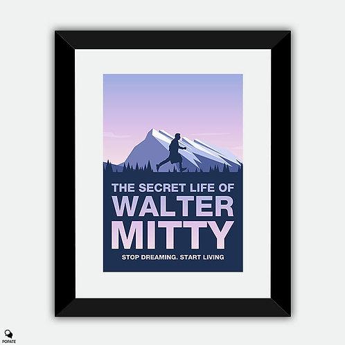 The Secret Life of Walter Mitty Minimalist Framed Print - Greenland