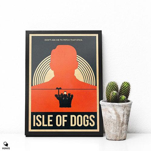 Isle of Dogs Vintage Alternative Framed Print