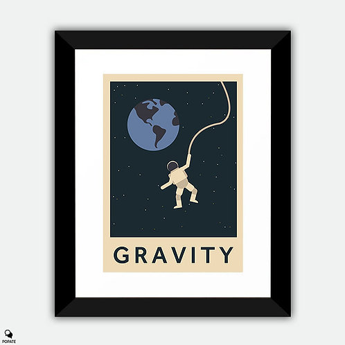 Gravity Minimalist Framed Print