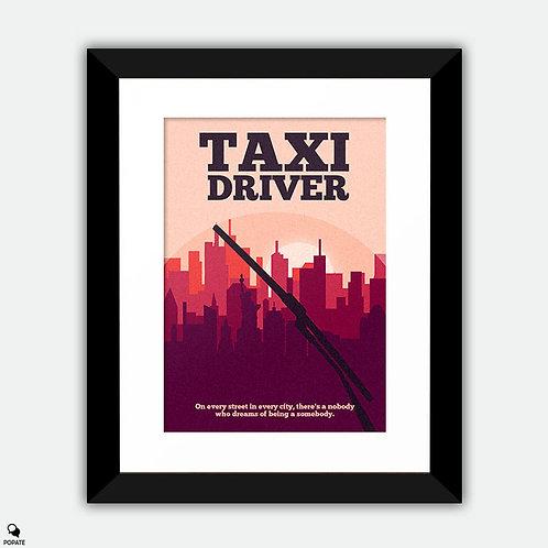 Taxi Driver Minimalist Framed Print
