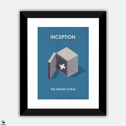Inception Minimalist Isometric Framed Print