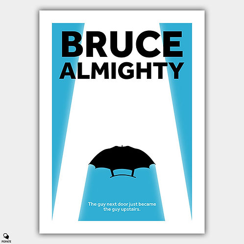 Bruce Almighty Minimalist Poster - IT'S GOOD