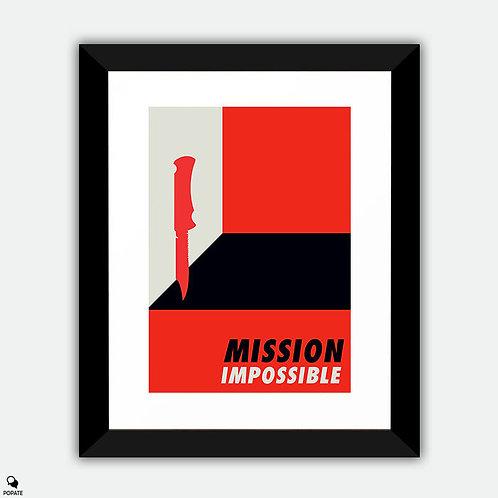 Mission Impossible Vintage Bauhaus Framed Print