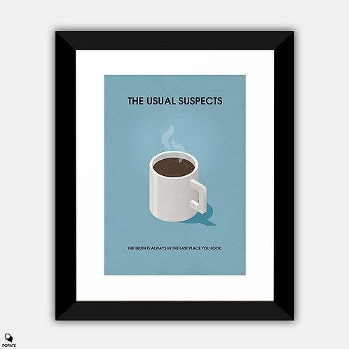 The Usual Suspects Minimalist Framed Print