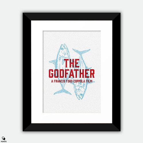 The Godfather Minimalist Framed Print - Sicilian Message