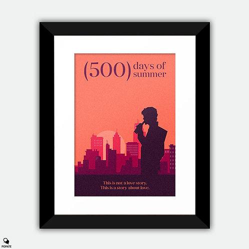 500 Days of Summer Minimalist Framed Print - Reality