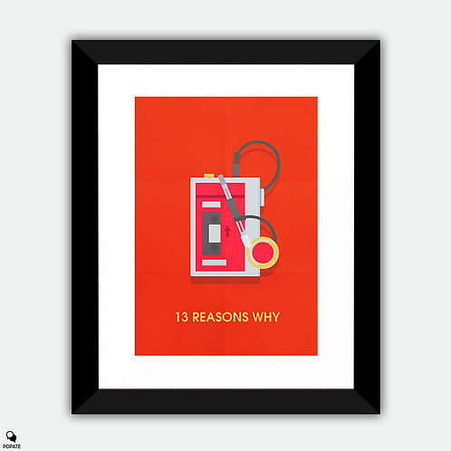 13 Reasons Why Minimalist Framed Print
