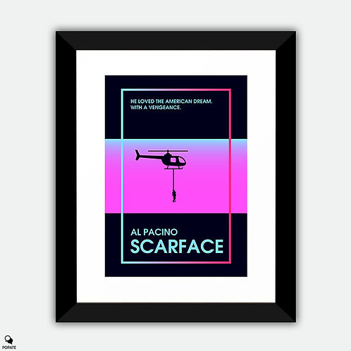 Scarface Minimalist Poster - '80s Retro Style
