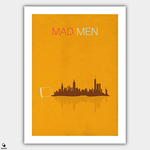 Mad Men Minimalist Poster - Spilled Whiskey