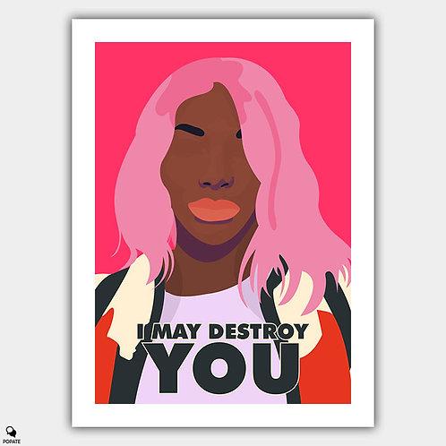 I May Destroy You Minimalist Poster - Eyes Eyes Eyes Eyes