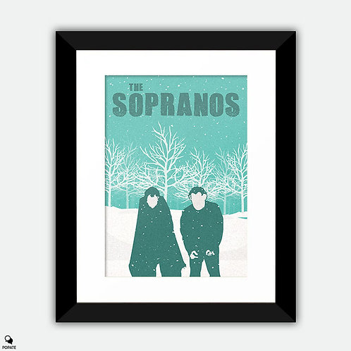 The Sopranos Minimalist Framed Print - Pine Barrens