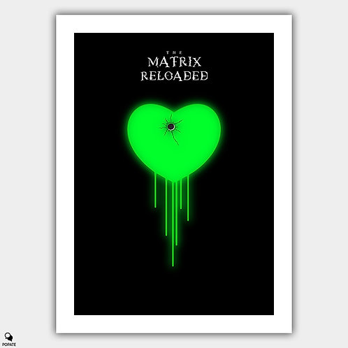 The Matrix Reloaded Minimalist Poster - Neo's Choice