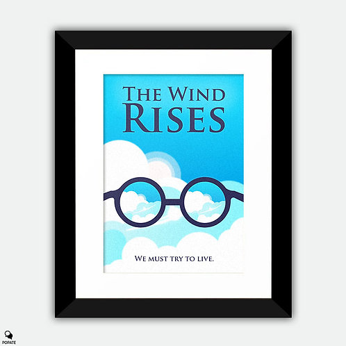 The Wind Rises Minimalist Framed Print