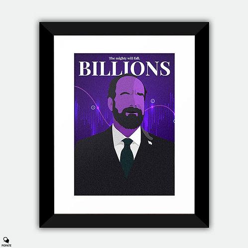 Billions Minimalist Framed Print - Rhoades