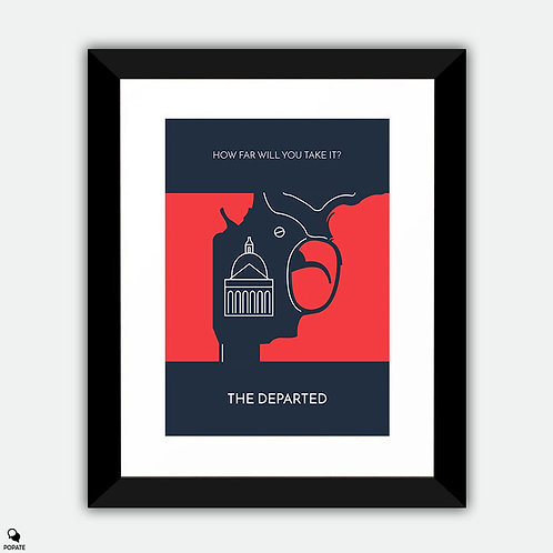 The Departed Minimalist Framed Print - State House