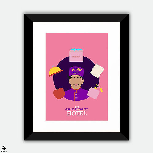 The Grand Budapest Hotel Minimalist Framed Print - Zero