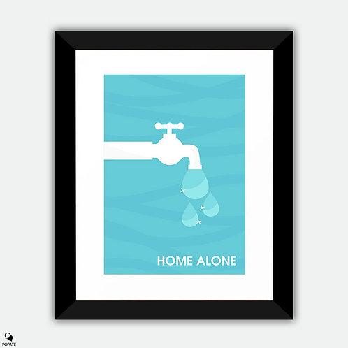 Home Alone Minimalist Framed Print - The Wet Bandits