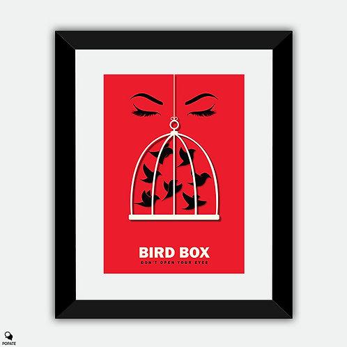 Birdbox Minimalist Framed Print