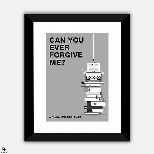 Can You Ever Forgive Me? Minimalist Framed Print