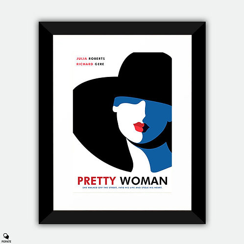 Pretty Woman Minimalist Framed Print - Vivian