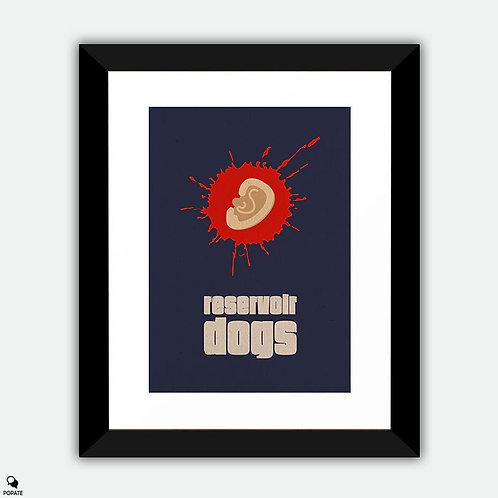 Reservoir Dogs Minimalist Framed Print - Hands